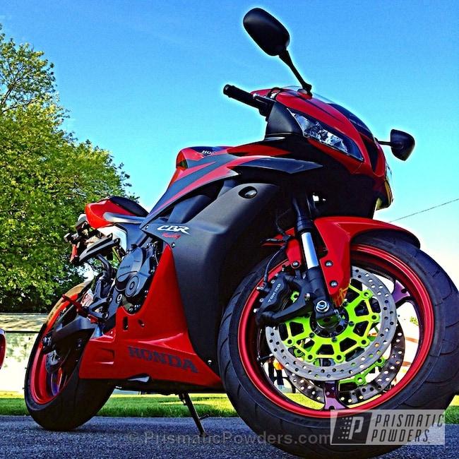 Powder Coating: Glowing Yellow PPB-4759,instagram bmorekreative,Motorcycles