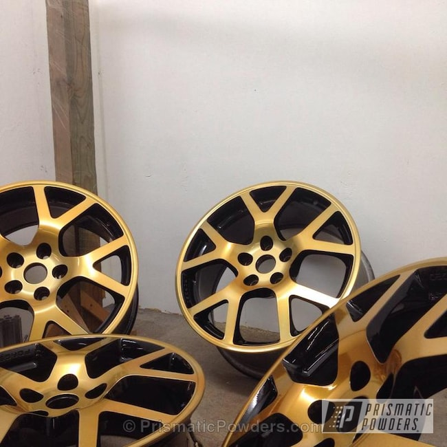 Powder Coating: Wheels,Clear Vision PPS-2974,Ink Black PSS-0106,Gold Sparkle PPB-4499,Altima SE-R Wheels