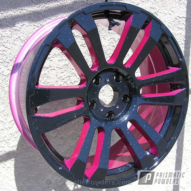 Powder Coating: Wheels,Silver Sparkle PPB-4727,Ink Black PSS-0106,SUMMER PUNCH UPB-1759,Black and Pink Wheels