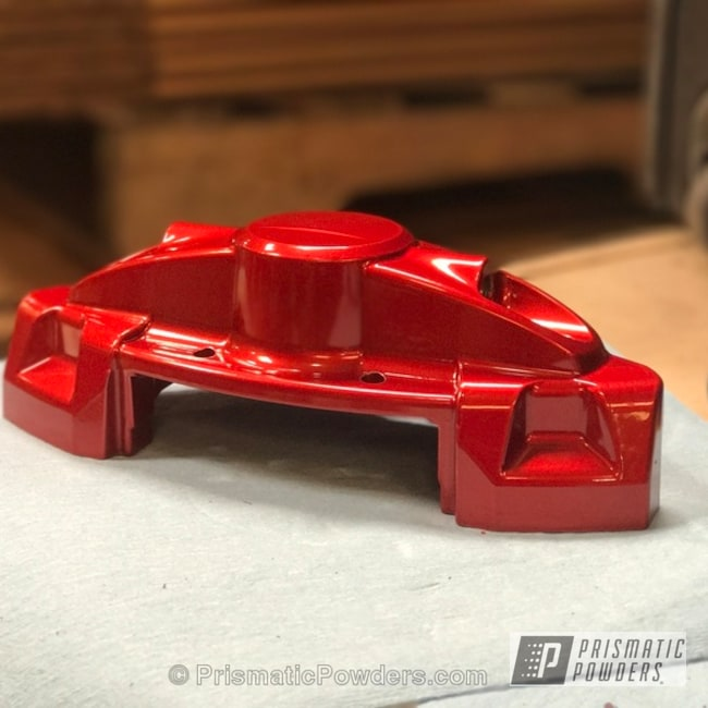 Powder Coating: Automotive,Two Stage Powder Application,Clear Vision PPS-2974,Clear Top Coat,Custom Brake Calipers