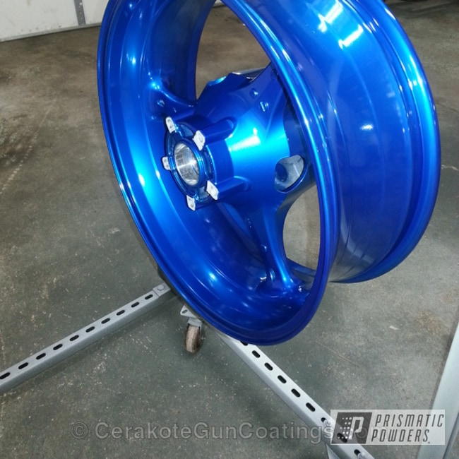 Powder Coating: Wheels,SUPER CHROME USS-4482,chrome,ANODIZED BLUE UPB-1394,sport bike wheel