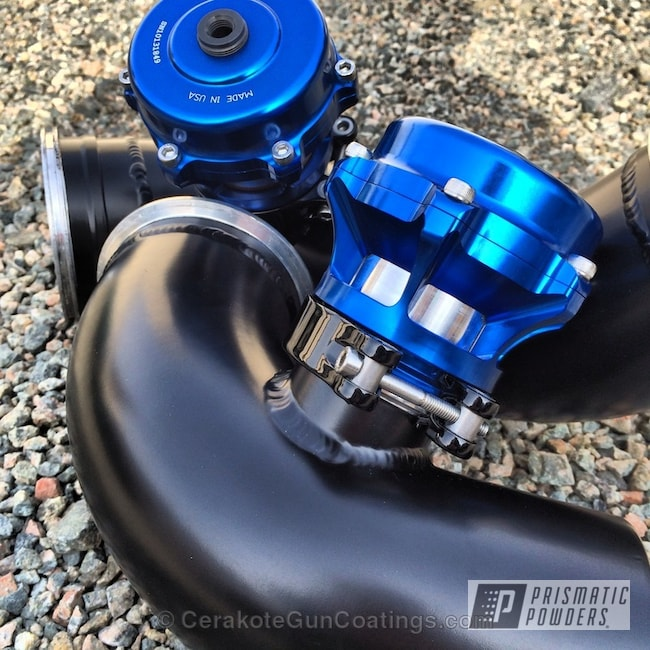 Powder Coating: Automotive,Stone Black PSS-1168,Charge Pipes