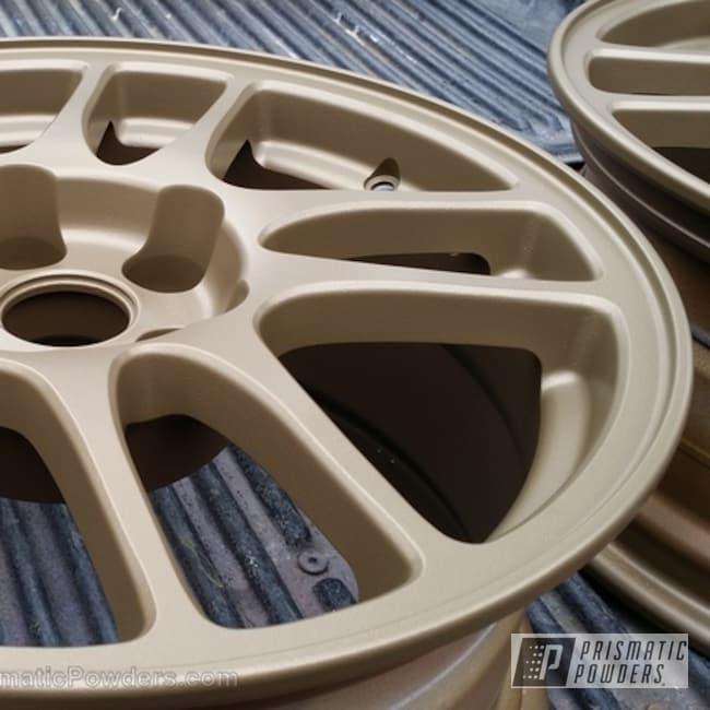 Powder Coating: Wheels,Alpine Bronze PMS-4645,Customer Wheels