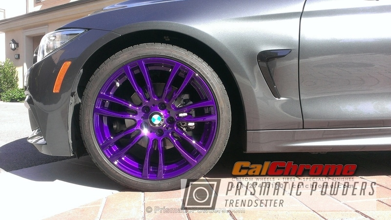 Bmw 4 Series Wheels Coated In Illusion Purple And Clear Vision