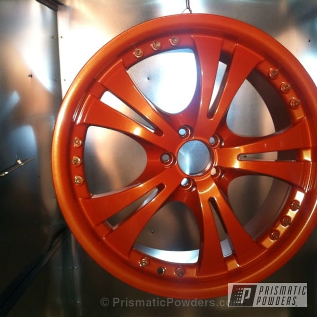 Powder Coating: Wheels,Automotive,BRENTWOOD ORANGE PMB-0964,Chance's wheels