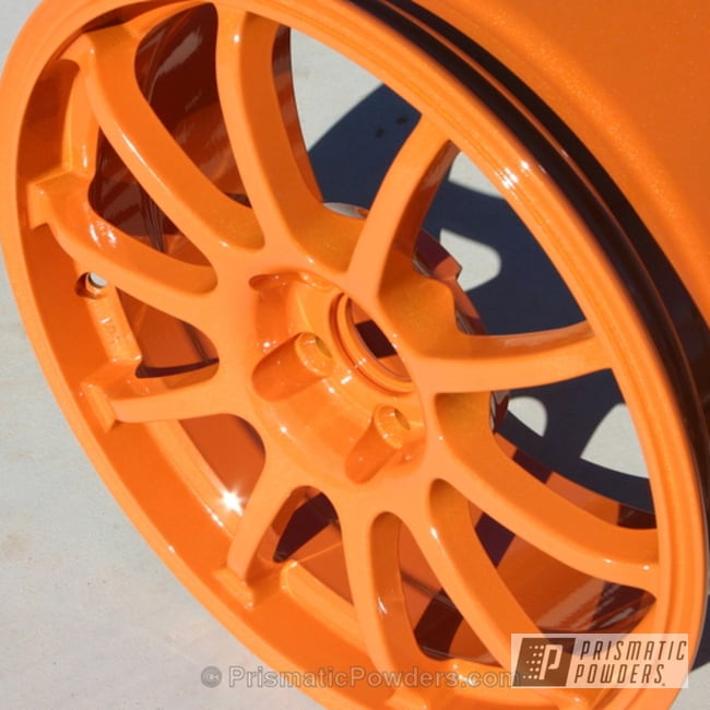 South Bay Orange With Clear Vision Top Coat