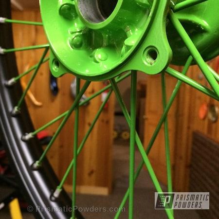 Powder Coating: BLACK JACK USS-1522,Designer Green PMB-5343,Motorcycles,Dirt Bike