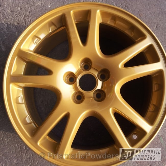 Powder Coating: Wheels,Goldtastic PMB-6625,Clear Vision PPS-2974,gold