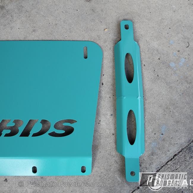 Powder Coating: Automotive,Poseidon Green PSS-3047,BDS Lift Kit components