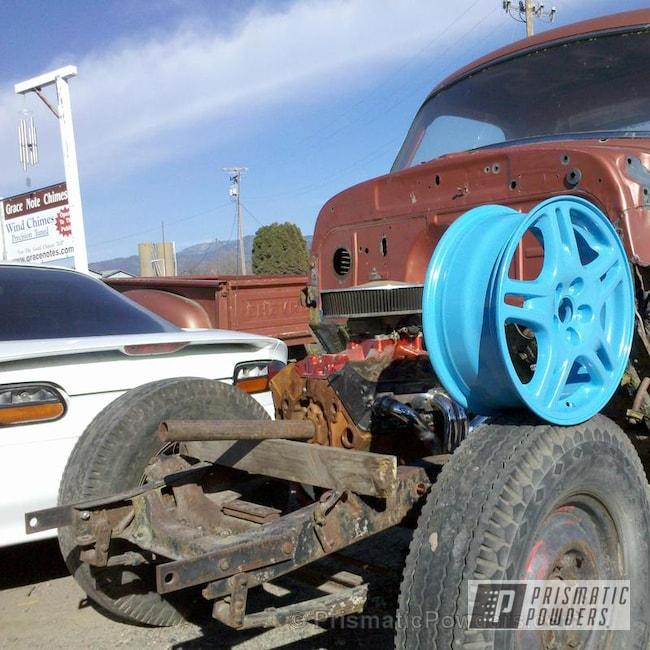 Powder Coating: Wheels,Automotive,Baby Blue Sparkle,Baby Blue Sparkle PMB-4117
