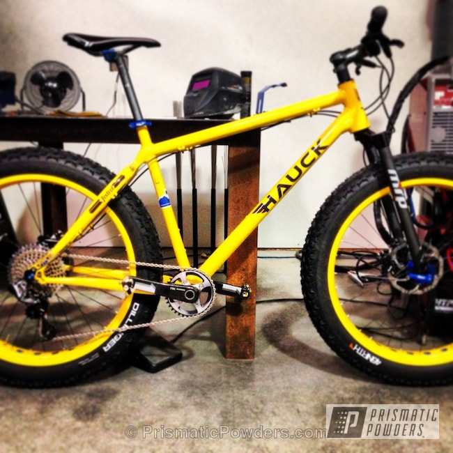 Powder Coating: Bicycles,Racey Yellow PSS-0764