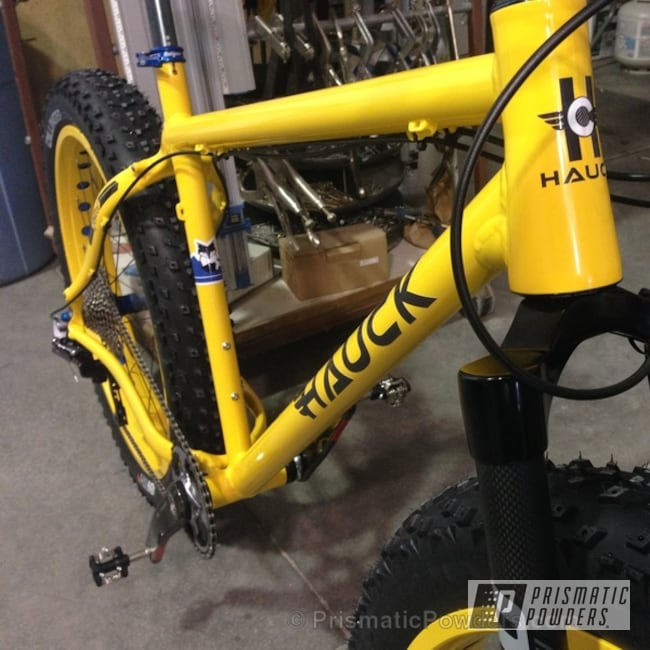 Custom Bicycle In Racey Yellow