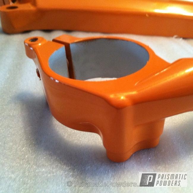 Powder Coating: shock,New Tucker Orange PMB-4209,powder coating,powder coated,Prismatic Powders,Motorcycles