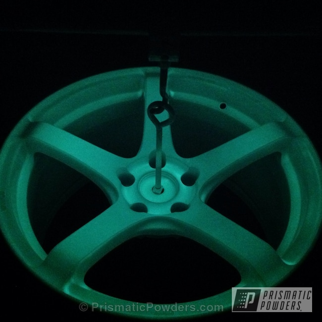 Powder Coating: Wheels,Powder Coated White Wheels,powder coating,Nissan 350Z Gymkhana Drift Car,powder coated,Prismatic Powders,PEARLIZED VIOLET UMB-1536,Glowbee Clear PPB-4617