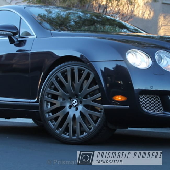 Powder Coating: Wheels,Custom Wheels,Grey Wheels,powder coating,powder coated,Prismatic Powders,Custom Bentley,Crystal Grey PMB-5913,Bentley