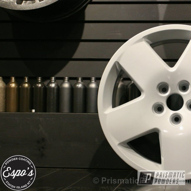 Powder Coating: Wheels,Clear Vision PPS-2974,Audi powder coated wheel,White Silver Plus PMB-4823