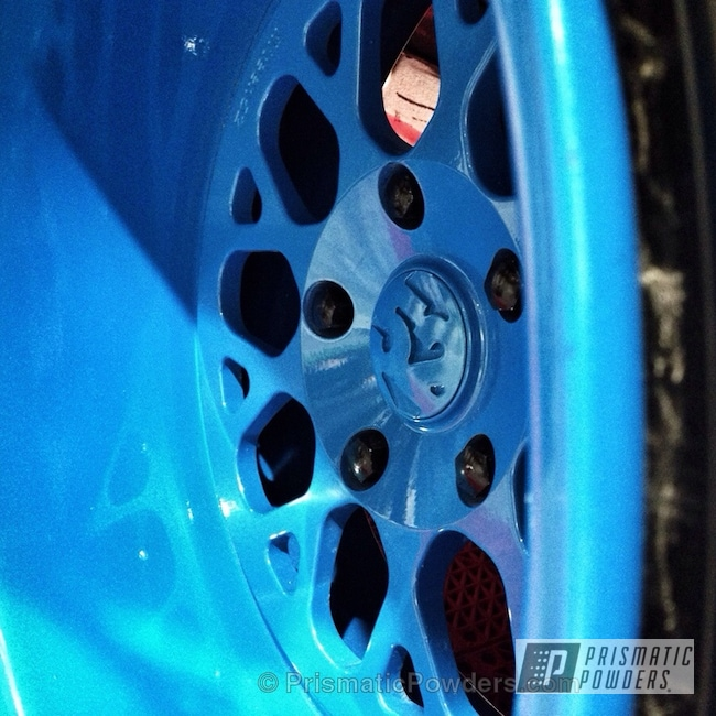 Powder Coating: Wheels,Blue wheels,SEMA 2013 Black Porsche 964,Clear Vision PPS-2974,Bisimoto Engineering,Sparks Blue UMB-1809,Custom Wheels,powder coating,Engine Components,powder coated,Prismatic Powders