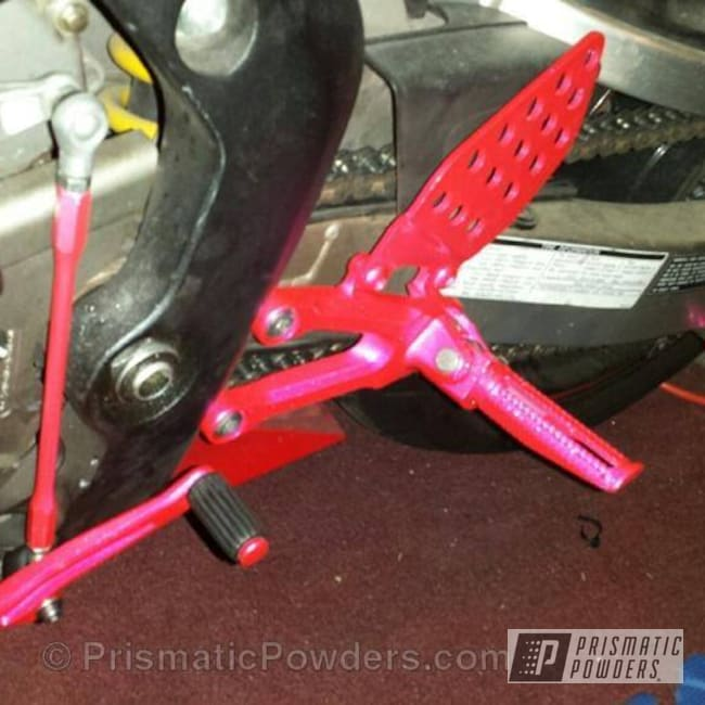 Powder Coating: SUPER CHROME USS-4482,chrome,100r Street Bike,powder coating,Dazzling Pink PPB-5383,powder coated,Prismatic Powders,Motorcycles