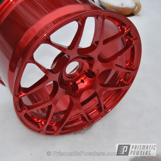 Powder Coating: Wheels,Clear Vision PPS-2974,SUPER CHROME USS-4482,chrome,HRE Porsche 911 wheels,Rancher Red PPB-6415