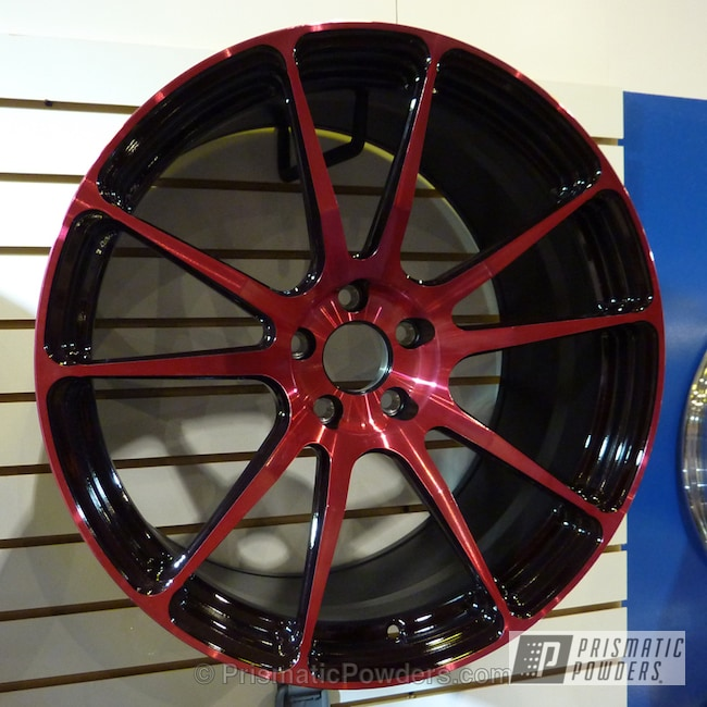 Powder Coating: Wheels,RASPBERRY SPICE II UPB-4664,red wheels