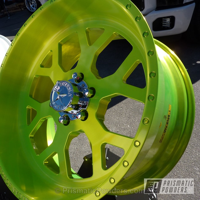 Powder Coating: Wheels,Flat Shocker Yellow PPB-6524