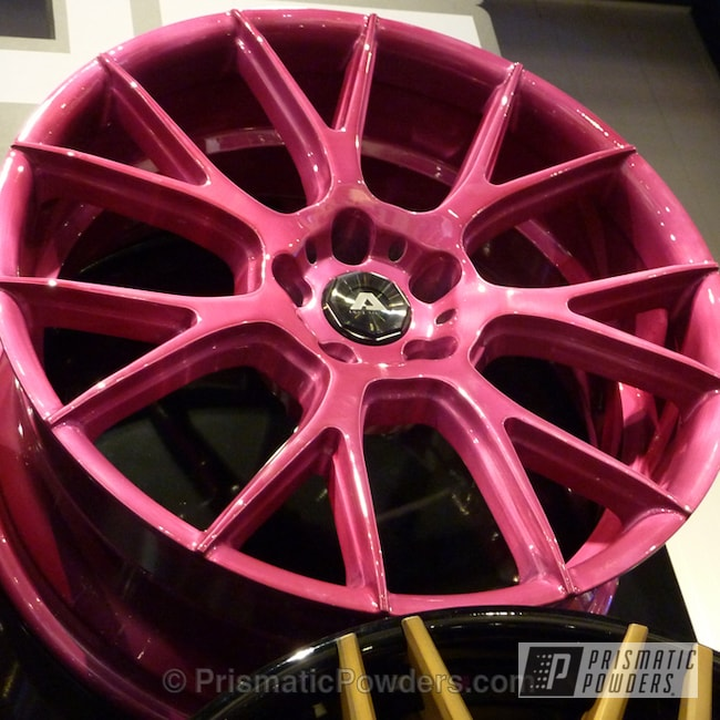 Powder Coating: Wheels,Cran-Raspberry PPB-1745,Pink Wheels