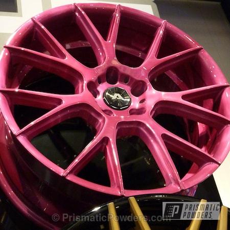 Powder Coating: Wheels,Cran-Raspberry PPB-1745,Pink Wheels