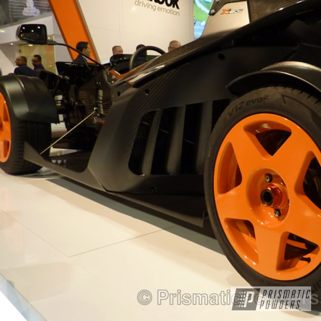 Powder Coating: Wheels,Automotive,Bright Orange PSS-0879,Orange Wheels