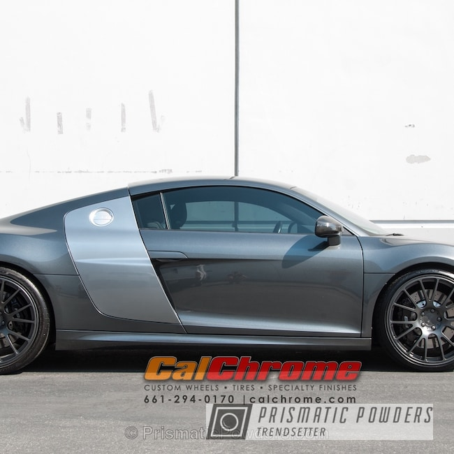 Powder Coating: Single Powder Application,Wheels,Automotive,Evo Grey PMB-5969,Solid Tone,Audi R8,Custom Audi Wheels