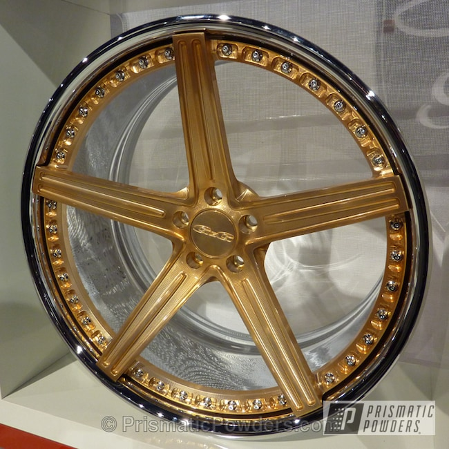 Powder Coating: Golden Brass PPB-1591,Wheels