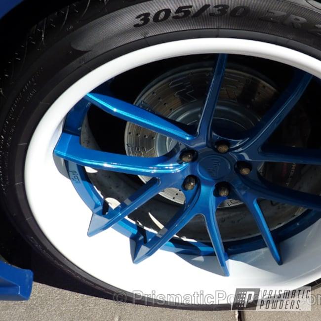 Powder Coating: Wheels,SUPER CHROME USS-4482,chrome,RITZY BLUE UPB-1243
