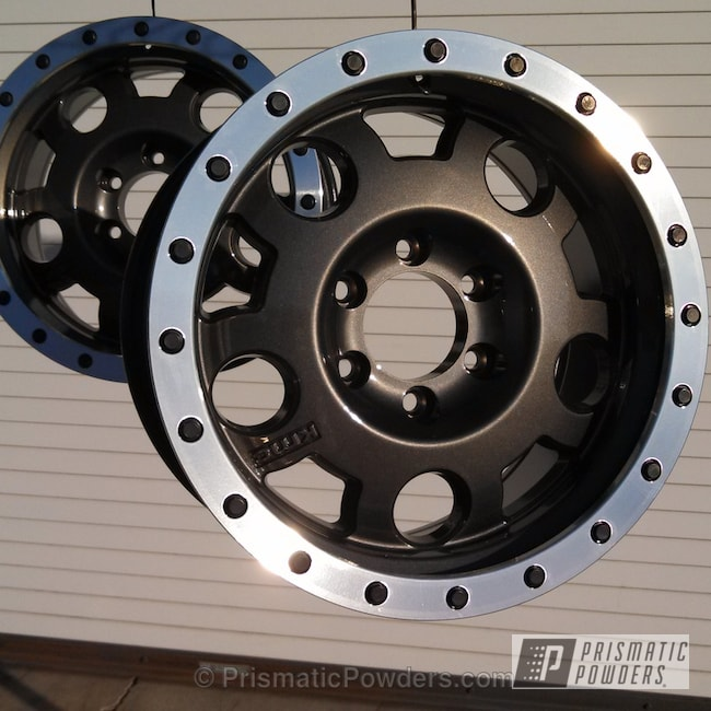 Powder Coating: Wheels,Ford F-150 Wheels,Clear Vision PPS-2974,Grey Wheels,powder coating,powder coated,Prismatic Powders,Custom 2 Coats,Crystal Grey PMB-5913,Custom  wheels