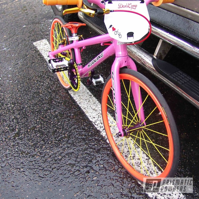 Powder Coating: Bicycles,Candle Orange PSS-4419,Candy Grape II PPB-2796,Sassy PSS-3063,2012 Redline Flight Micro Mini