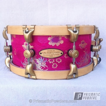 Powder Coated Snare Drum Done Using Prismatic Gold