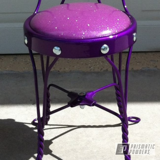 Powder Coating: LOLLYPOP GRAPE UPS-1511,SUPER CHROME USS-4482,chrome,Art,Furniture,Ice Cream Chair