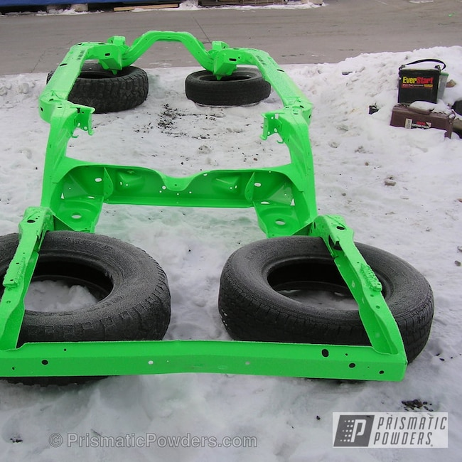 Powder Coating: Automotive,Car Frame,Neon Green PSS-1221