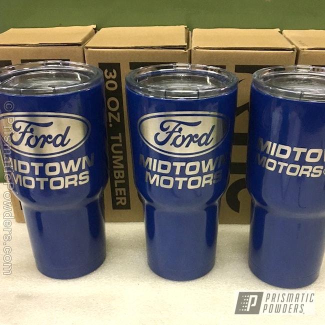Powder Coating: Single Powder Application,Midtown Motors Mugs,Solid Tone,Ford Dark Blue PSB-4624,Ford Automotive,Miscellaneous