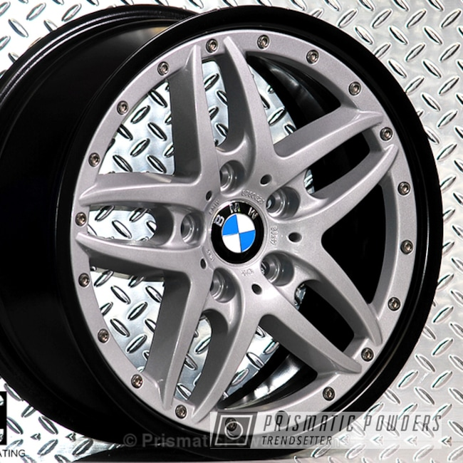 Powder Coating: Wheels,BMW Silver PMB-6525,Automotive,Clear Vision PPS-2974,Stone Black PSS-1168,Custom Wheels,Three Powder Application,Clear Top Coat,BMW Style 71 Wheels