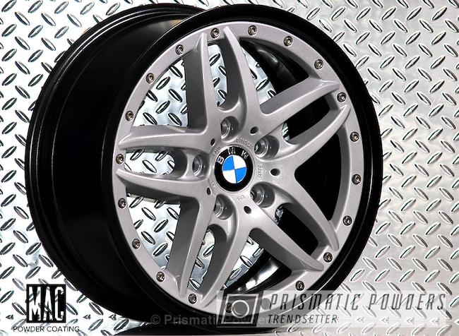 Powder Coating: Wheels,BMW Silver PMB-6525,Automotive,Clear Vision PPS-2974,Stone Black PSS-1168,Custom Wheels,Three Powder Application,Clear Top Coat,BMW Style 71 Wheels