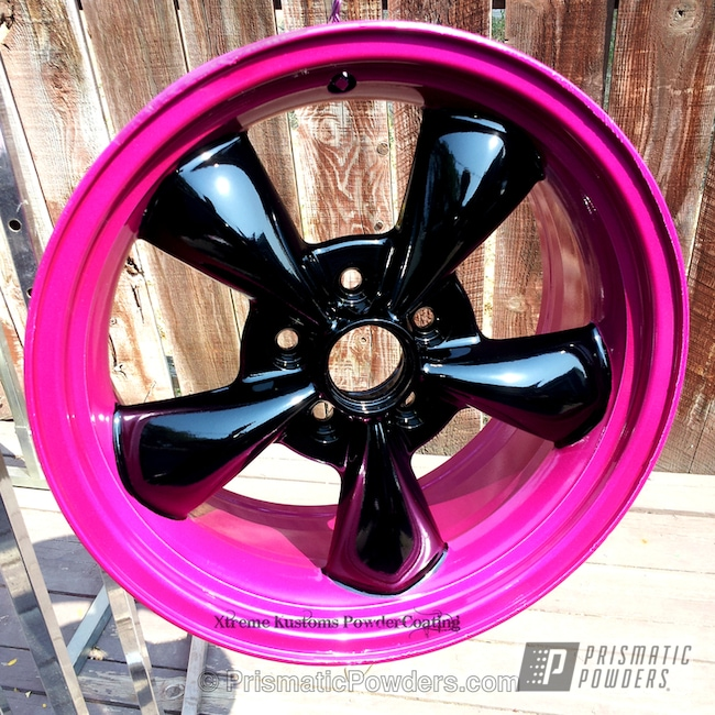 Powder Coating: Wheels,Mustang GT wheels,Heavy Silver PMS-0517,Ink Black PSS-0106,powder coating,powder coated,Prismatic Powders,Cran-Raspberry PPB-1745,Powder Coated Mustang GT Wheels,Custom Mustang GT wheels