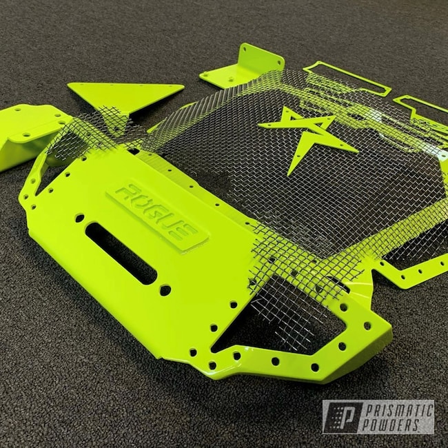 Powder Coating: Custom,Kingsport,Off-Road,Kingsport Grey PMB-5027,Polaris RZR Lime Squeeze,RZR Lime Squeeze,Polaris,Grey,RZR,Polaris Lime Squeeze,Lime Squeeze