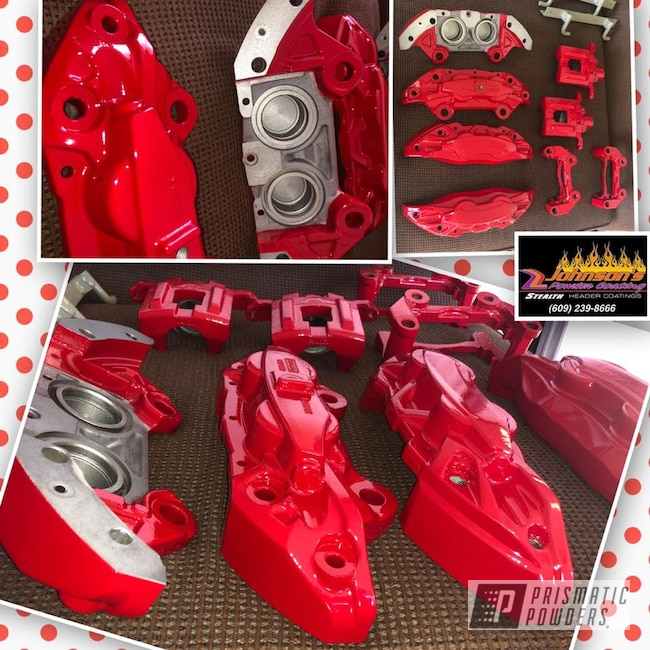 Powder Coating: Automotive,Brakes,Brake Calipers,Astatic Red PSS-1738