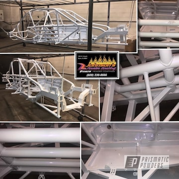 Powder Coated White Race Car Frame