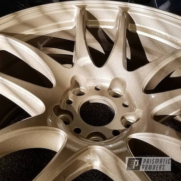 Powder Coated Gold Work Wheels