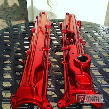 Powder Coated Red 2 J Valve Covers