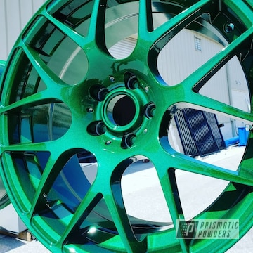 Powder Coated Green Custom Rims