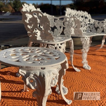 Powder Coated White Outdoor Patio Furniture