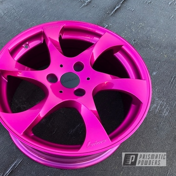 Powder Coated Pink Alloy Rims