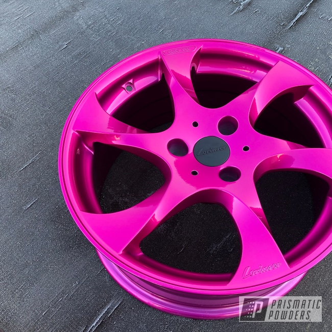 Powder Coating: Wheels,Automotive,Alloy Wheels,Clear Vision PPS-2974,Rims,Illusion Pink PMB-10046