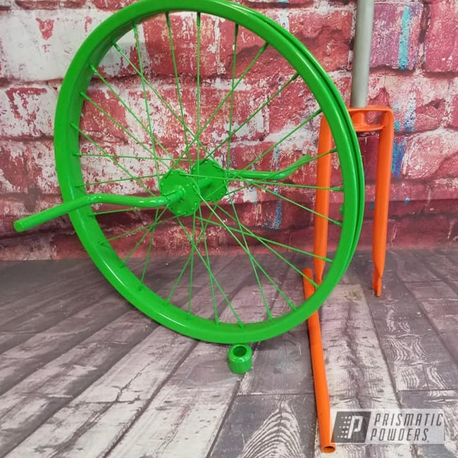 Powder Coating: RAL 2009 Traffic Orange,Bicycles,Bicycle Parts,Unicycle,Kiwi Green PSS-5666